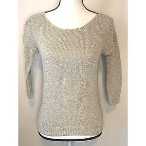 GAP Extra small Gray marled 3/4 sleeve sweater